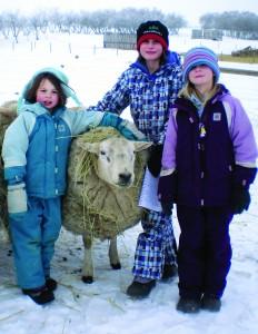 Jaclyn, Hannah and Naomi Delisle. Photo by Kathleen Raines.