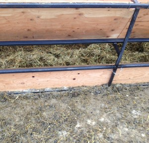 The use of the home-made feed bunks and mixer wagon minimize waste.